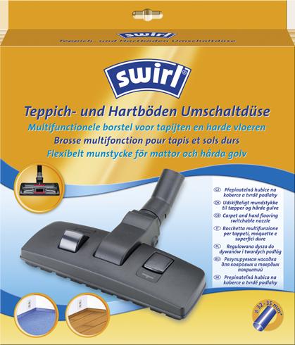 Flexibelt dammsugar munstycke för mattor och hårda golv